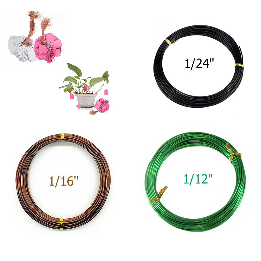 High Quality Aluminum Wire Of 3 Sizes Multiple Colour Long Lasting Bonsai Training Wire 1.0mm1.5mm2.0mm ,Reusable