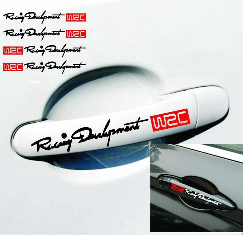 Estilo de coche de la manija de la puerta de coche de la película de la etiqueta engomada del accesorio para audi a4 b7 golf 5 mondeo mk4 volvo v50 opel astra g