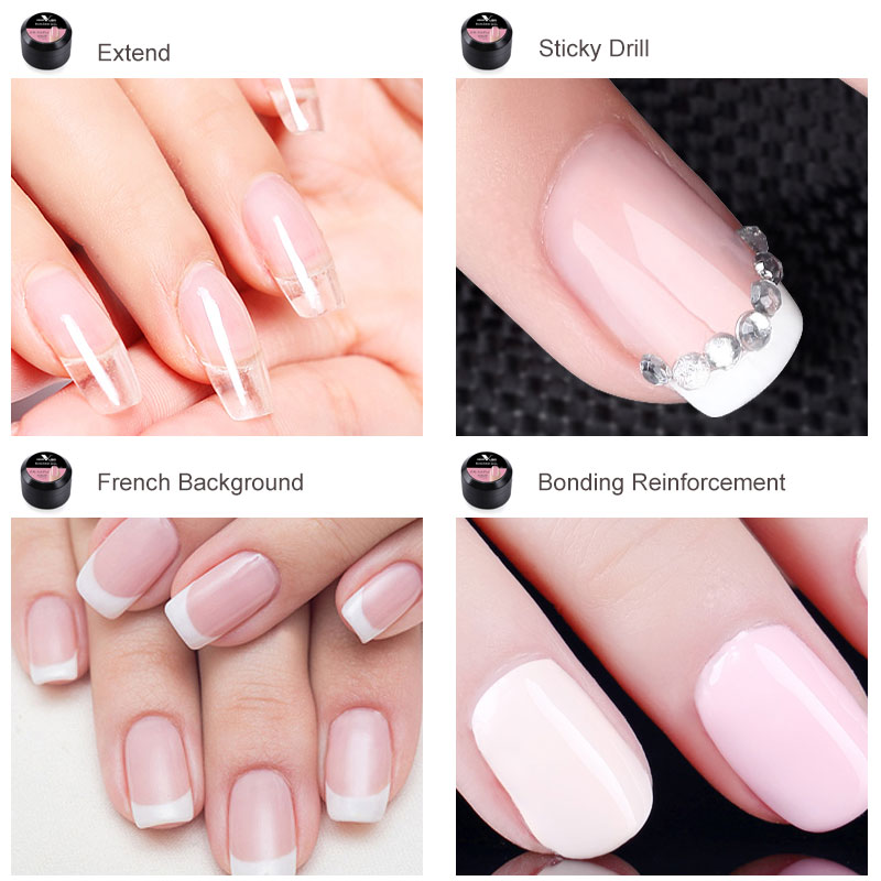 2019 New Products Wholesale Nail Gel CANNI Nail Extension Gels Thick Builder Gel Natural Camouflage