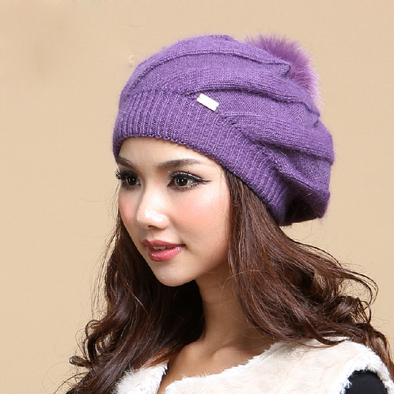 Winter Hats Women Rabbit Hair Knitted Caps Thermal Double Layer Woolen Beanies Casual Female Skullies Beanie Gorros