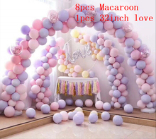 9pcs/set Macaroon Balloons Love Foil Balloon DIY Home Birthday Party Decorations Wedding Supplies