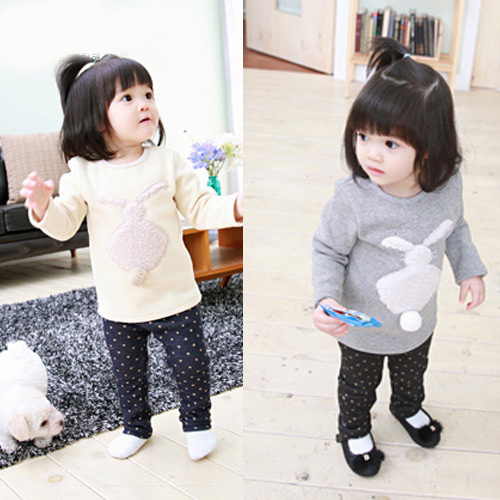 Hot Seller 100% Cotton Boys Fleece T-shirt Spring Girls Base Tee Casual Clothing Long Sleeve Warm Tshirt