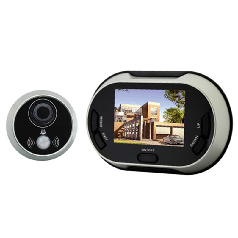 3.5 Inch Peephole Viewer Wired Video Door Phone