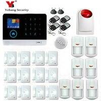 YoBang безопасности 3g Беспроводной охранных HD ЖК дисплей Сенсорный экран сигнализации Панель безопасности дома тревоги Системы Дым пожарный