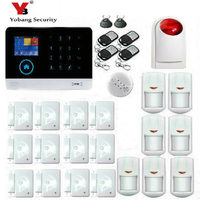 YoBang Security 3G Wireless Home Security HD LCD Touch Screen Alarm Panel Home Safety Alarm System Smoke Fire Detector APP.