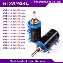 2PCS WXD3-13 series 100 200 220 680 1K 2.2K 3.3K 4.7K 5.6K 6.8K 10K 22K 33K 47K 100K Ohm WXD3-13-2W Wirewound Potentiometer