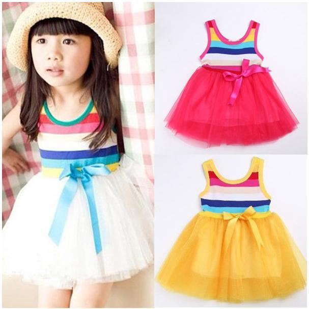 4pcs/Lot 2013 Hot Sale Baby Girl Rainbow Fluffy Dress Girl's Tutu Fkirts Free Fhipping Baby Dancing Dress/Party tutudress