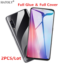 2Pcs For Xiaomi Mi 9 SE Glass Tempered for Film Full Glue Cover Screen Protector