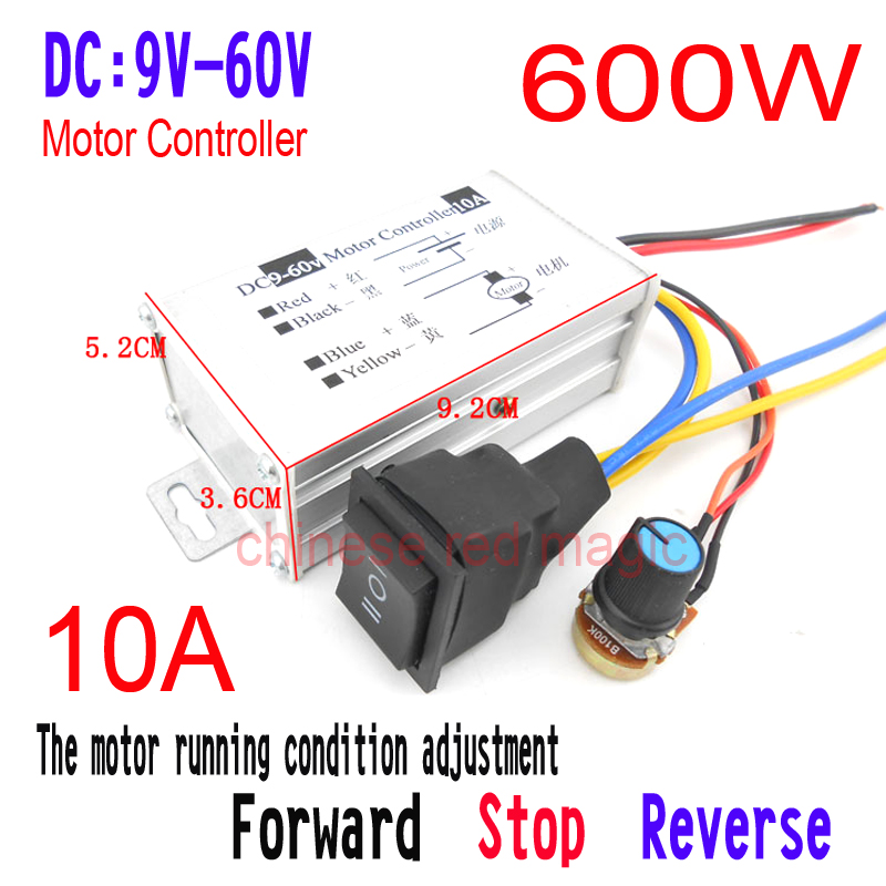 Motors & Parts Dc 9v 12v 24v 48v 60v 20a Reversible Motor Speed Controller Regulator Driver Pwm