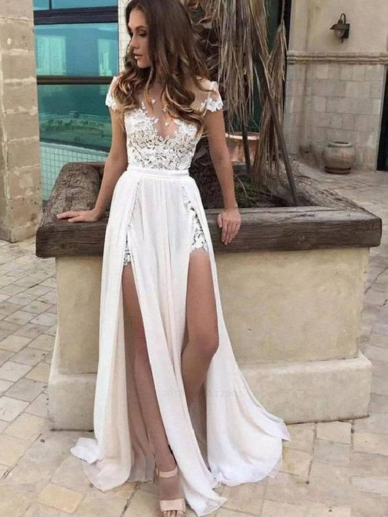 Skye 2019 Summer Beach Wedding Dresses A Line Lace Appliques Double Slit Bridal Gowns Chiffon Wedding Dress Vestidos De Novia Buy At The Price Of 87 50 In Aliexpress Com Imall Com,Wedding Dressing Table