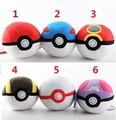 MOQ 6PCS Pokemon plush Ball Anime Toys Cartoon Pocket Monsters plush ball Action Figures pikachu Ball Cosplay Pop-up 6 colors