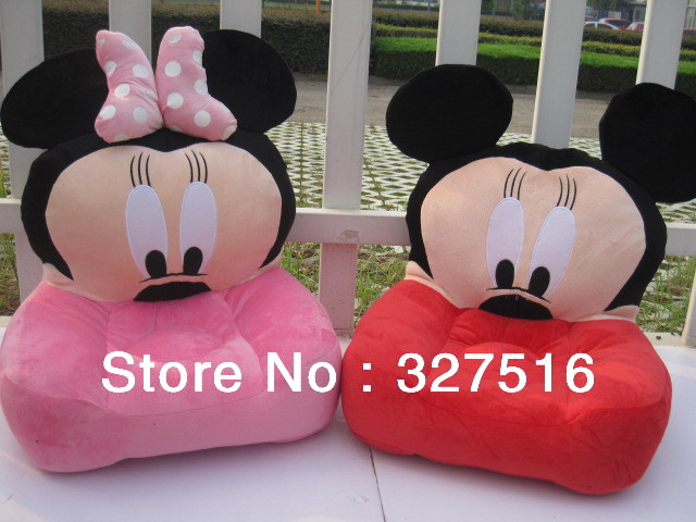 Hot sells anime cartoon mickey mouse, minnie mouse huge sofa seat plush doll toys,Birthday Gift free shipping by EMS