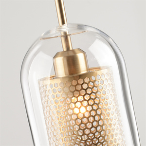 Image 3 - Lamp Glass Bulb Pendant Light Master Bedroom Luminaria De Teto Pendente Vintage Art Deco Vintage Industrial Pendant Nordic Loft