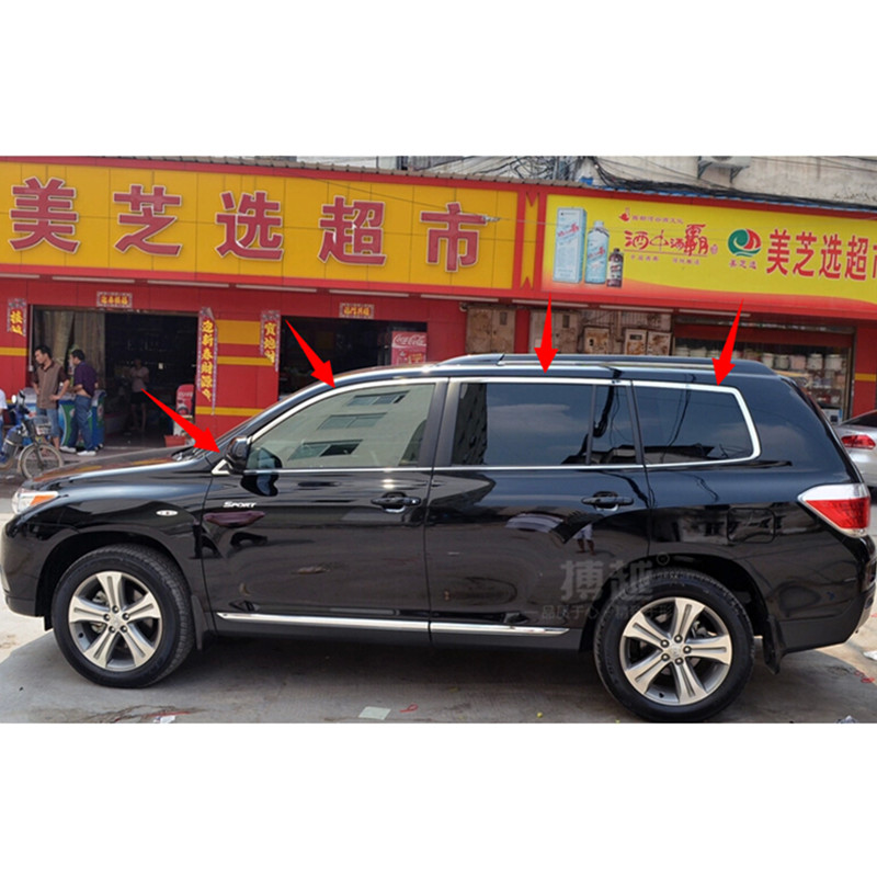Toyota Highlander 2011 For Sale: High Quality Car Styling Stainless Steel Strips Car Window