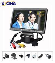 XYCING Новый RVC093 комплекты 7 дюймов TFT ЖК-дисплей Экран 800*480 пикселей 2 AV Вход автомобиля монитор + Цвет автомобиля обратный заднего вида Камера