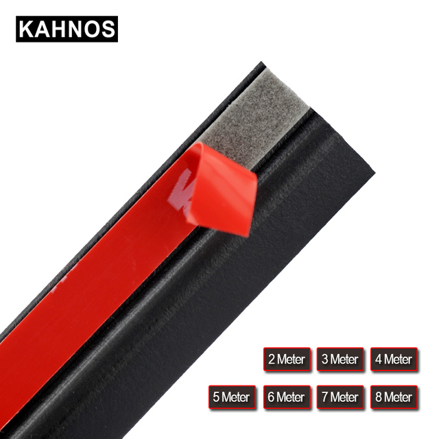 Rubber Seal Strip Z Type Car Door Weatherstrip Rubber Seals Trim Filler Adhesive High Density Seal Strip Noise Insulation