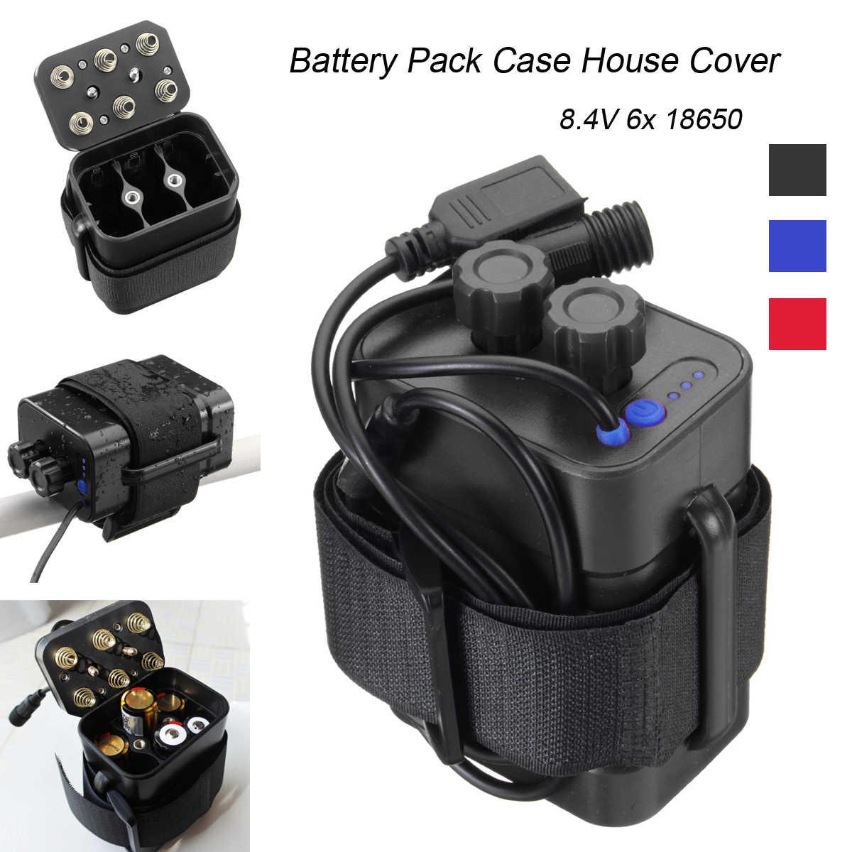 Waterproof 5V 8.4V 6x 18650 Battery Pack Box Case Cover For Bike Cellphone Lamp