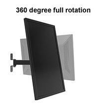 2017 New Design 17-27 TV Wall Mount Tilt Full Rotation LED LCD Monitor Arm Bracket Max. Loading 10kgs
