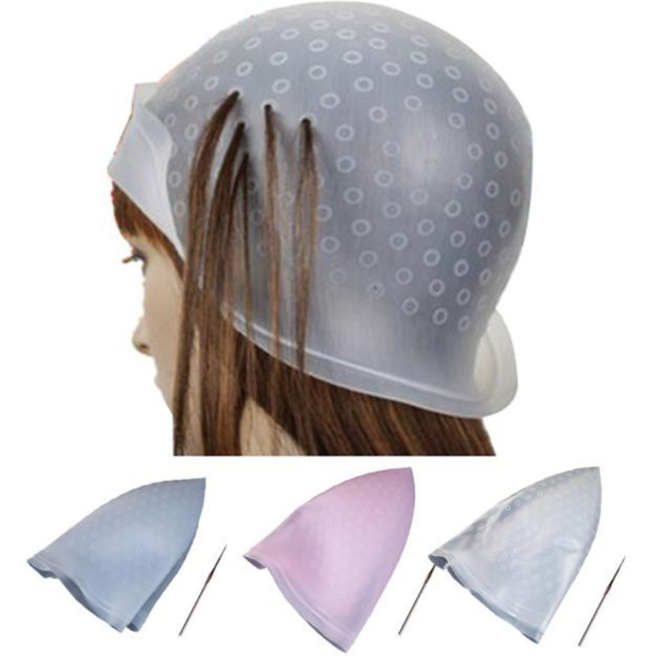 Hot Sale Popular Professional Salon Reusable Hair Colouring Highlighting Dye Cap Hat Hook Frosting Tipping 8.11