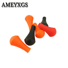 24Pcs Archery Soft Rubber Arrowhead Rubber Arrow Tips Fit 6mm/8mm Arrow Shaft Blunt Broadheads For Shooting Peactice Accessories