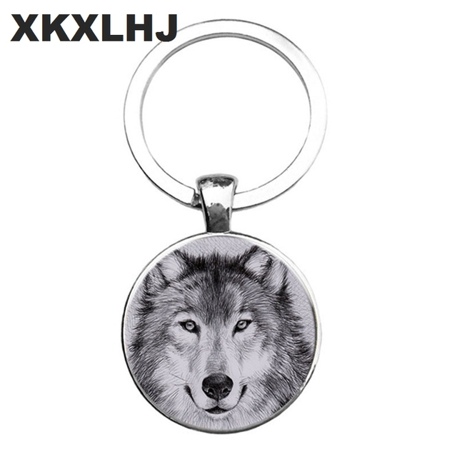 HOT! Trendy Nordic Wiccan Wolf Keychain Kovelty Animal Cool Wolf Key chain Holder Gifts For Men Keyring Jewelry 1