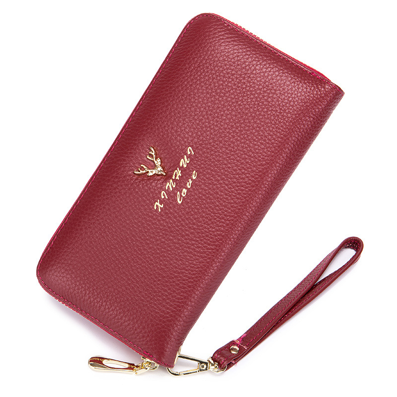 Genuine Leather Women Wallets Lady Purse Long Wallet Elegant Fashion Female Women's Clutch With Card Holder New Year Gift 2017 new women wallets cute cartoon bear lady purse pu leather clutch wallet card holder fashion handbags drop shipping j442
