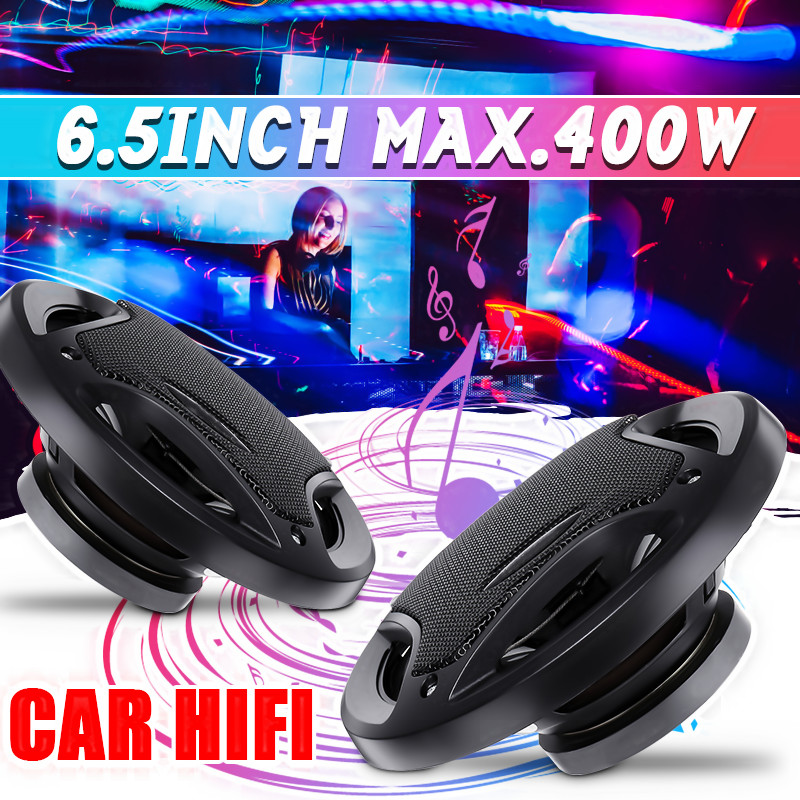 2pcs <font><b>6.5</b></font> inch 400W 3 Way <font><b>Car</b