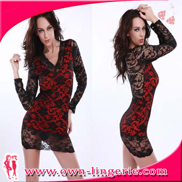 Free Shipping Images Of Nightwear Sexy Babydoll For Mature -6164