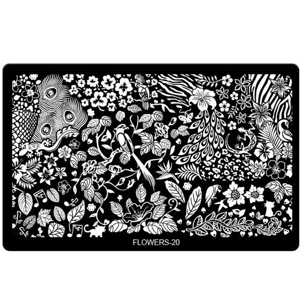 Aliexpress.com : Buy 1pcs New 20designs Nail Art Stamping Plates ...