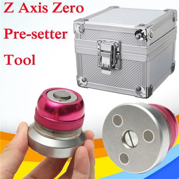 1 pc Z Axe Zéro Pré-setter Outil avec Boîte de Transport Réglage Hauteur 50 +/-0.005mm pour Tour CNC Fraisage Machine Rose