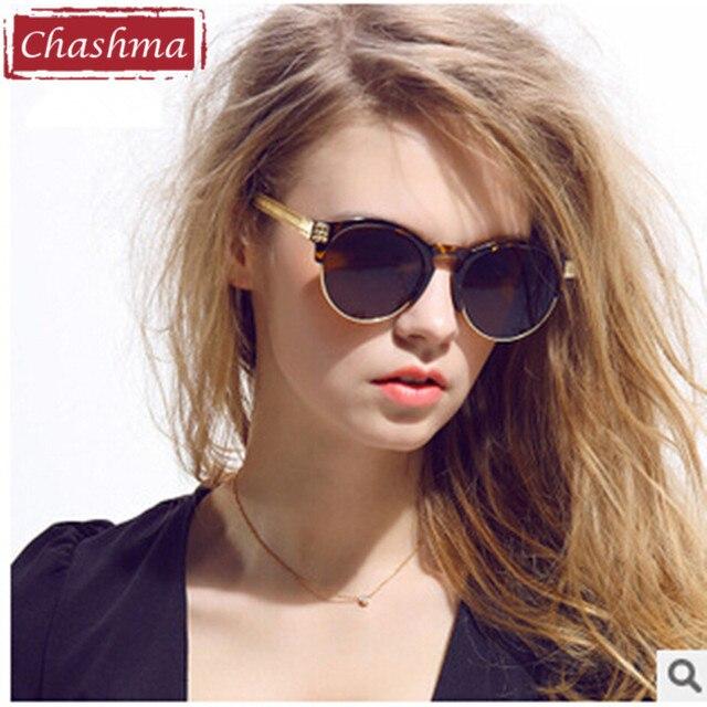 f2b95adbaf765e Tchachma 2018 Femme Marque Designer Lunettes de Soleil Rondes Tendance  Lunettes Rétro Femmes UV oculos Gafas