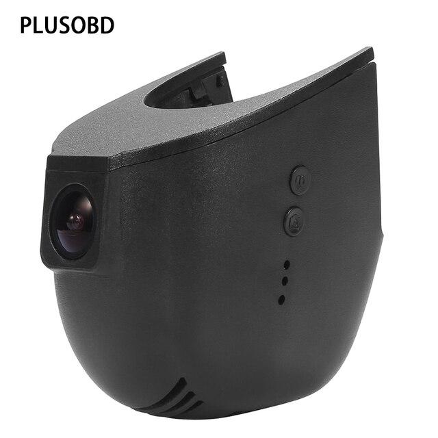 PLUSOBD Macchina Fotografica Dell'automobile Per Audi Dash Video Recorder Registrazione del Ciclo Senza Soluzione di Continuità HD DVR Con Slot di Lega di Alluminio + Sensore di Umidità