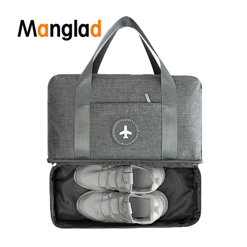 Manglad Portable Travel Bag Multifunctional Waterproof Double Classification Large-capacity Clothes Shoes Storage Trunk Bags