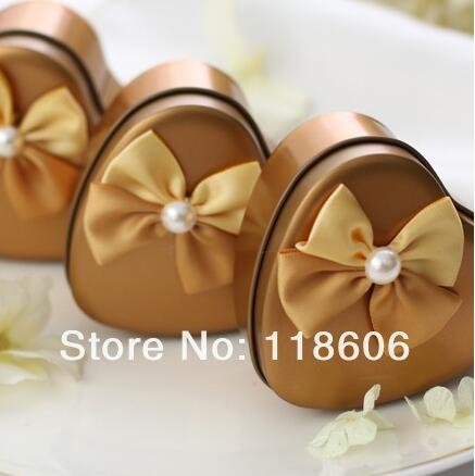 Wholesale 2013 Fashion European Creative Wedding Candy Box Decorative Bows Freeshipping