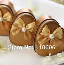 Wholesale 2013 Fashion European Creative Wedding Candy Box Decorative Bows Freeshipping