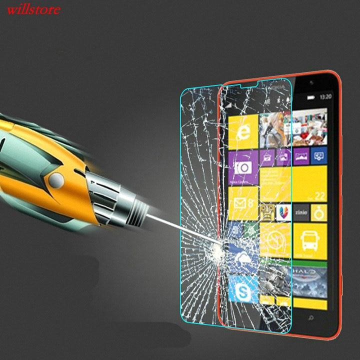 Displayschutzfolie aus gehärtetem Glas für Nokia Lumia 435 520 530 532 535 540 550 620 630 640 650 950 XL 730 830 920 930 Film