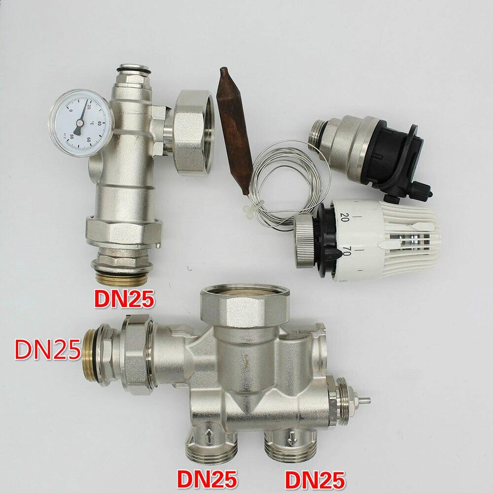 Miscelazione modulo per il collegamento di sistemi di riscaldamento a pavimento DN25 per cerchio pompa
