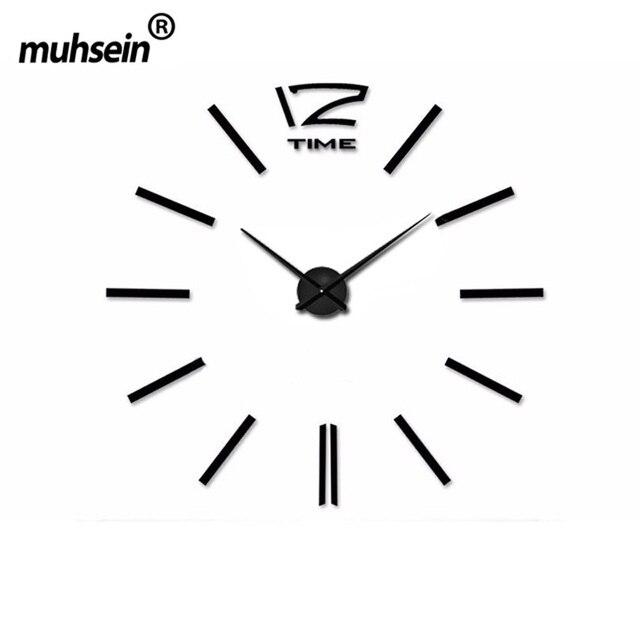 7e45d1330ac560 2018 muhsein Décoration de La Maison Grand Miroir Horloge Murale Design  Moderne Grande Taille Mur ClocksDIY