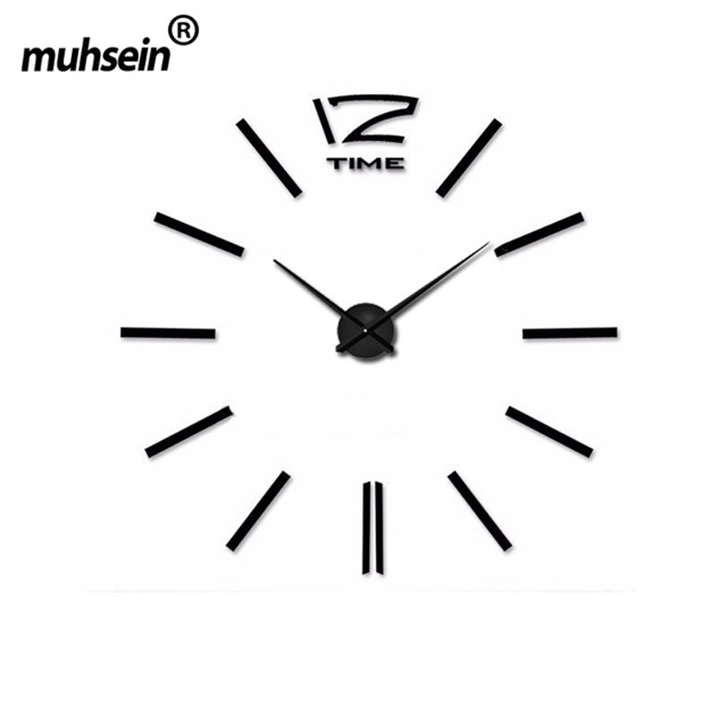 2019 muhsein Home Decoration Big Mirror Wall Clock Modern Design Large Size Wall ClocksDIY Wall Sticker Wall Clock Unique Gift