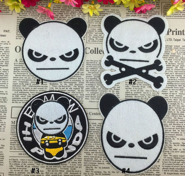 Panda Po Iron On Patches Kung Fu Panda Embroidered Appliquekids Cloth Patch Sewing Supplies Wholesale