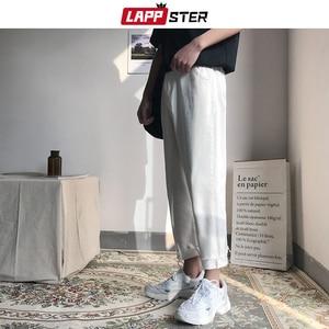 Image 4 - LAPPSTER mężczyźni koreański mody obcisłe dżinsy rurki spodnie 2020 lato Streetwaer Hip Hop Skinny dżinsy męskie proste niebieskie spodnie