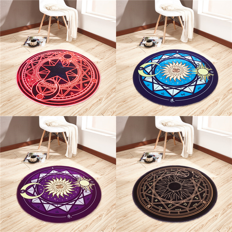 Cartoon Card Captor Sakura Rug Mat Magic Array Carpet Doormat Antislip Plush Princess Creative Handmade Living Room Coffee Table