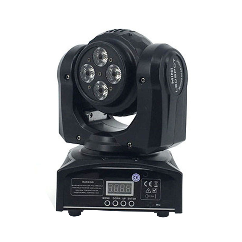 Christmas Dj Equipment 4x10W+1x10W Led DMX Wash Stage Light Disco Party Light Double Sides RGBW 4in1 Moving Head Beam Light super brightness 4x10w rgbw led mini beam moving head dj light led wash disco lighting led display dmx dj equipment for party