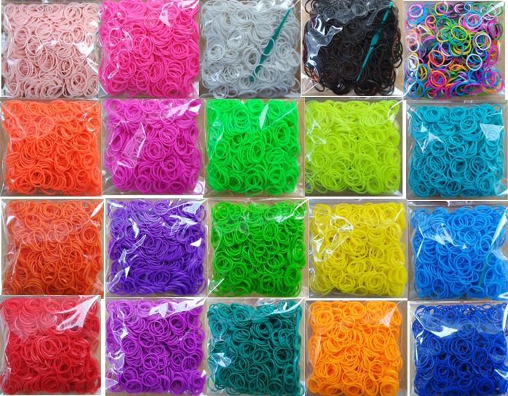 600pcs Loom Rubber Bands Bracelet For Kids Or Hair Rainbow Rubber Loom Bands Make Woven Bracelet DIY Toys Christmas 2019 Gift