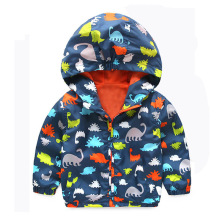 Hooded Dinosaur Windbreaker