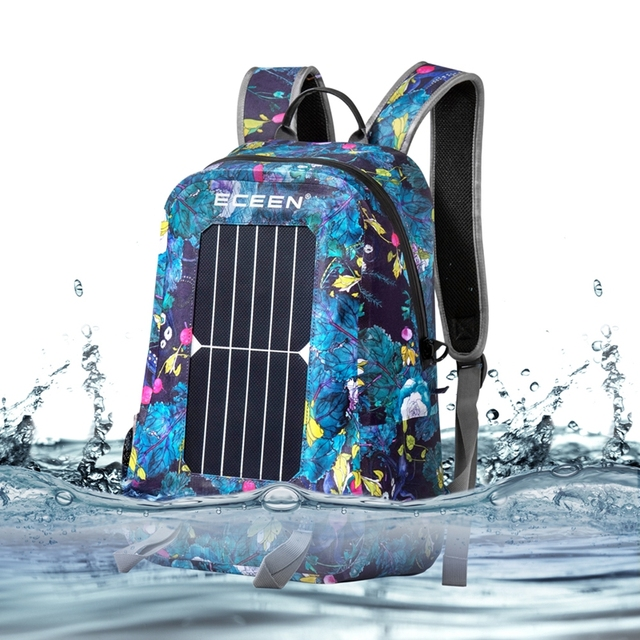 Waterproof 17L 7W Travel Solar Backpack  2