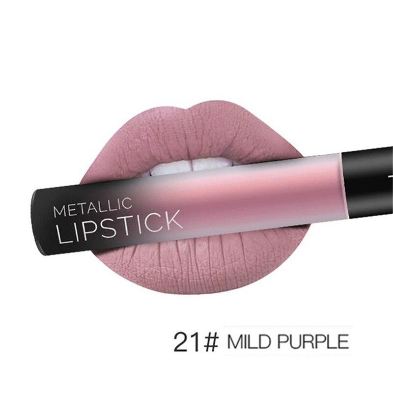 NEW 24 Colors Long Lasting Metallic Lip Gloss Red Velvet Matte Nude Liquid Lipstick Cosmetic Lips Makeup Women Gift Maquiagem 32