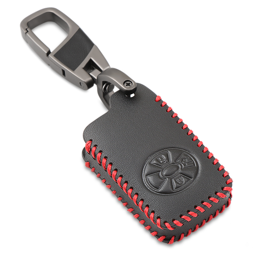 3 Buttons Car Smart Key Cover Case For Toyota RAV4 2009 2011 RAV 4 Yaris 2011 Keys Keychain Leather Case with Key Ring