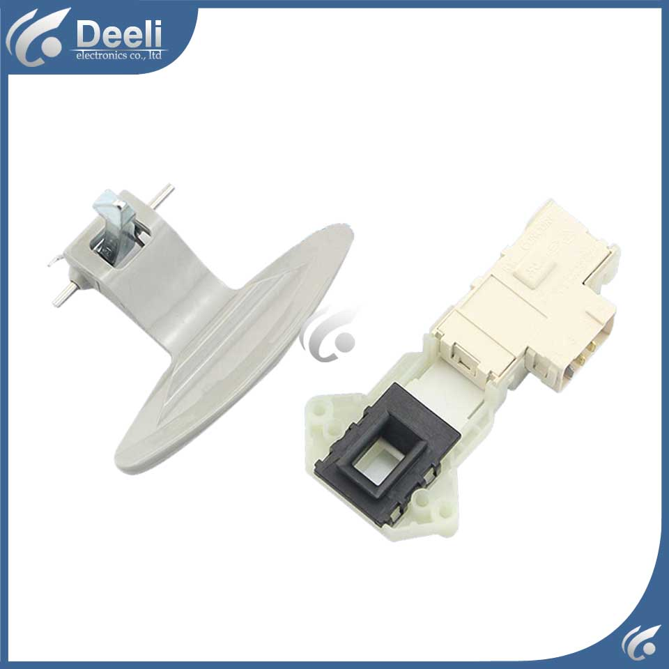 2pcs/set Original for LG washing machine door switch WD-N80030 WD-T12235D door interlock switch  Door Handle original new for lg drum washing machine door hinge 42741701 1pcs