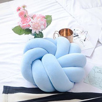 INS new Denmark Knot handmade creative knotted pillow Nordic style decorative sofa sitting cushion